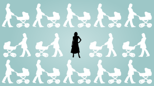 Women with no kids silhouette